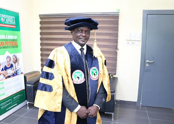 CURRENT REGISTRAR, DR. AKPOEBI ADESI.