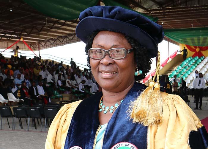 LIBRARIAN, DR. MRS. ROSE B. OKIY.